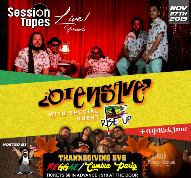 SessionTapes Live Presents Dranksgiving Eve  Reggae & Cumbia Party
