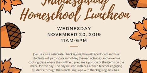 Homeschool Thanksgiving Luncheon
