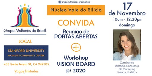PORTAS ABERTAS + VISION BOARD P/ 2020 WORKSHOP