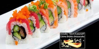 """Cooking Class -""""Sake to Me"""" Sushi Cooking Class w. Dessert/Sake + Sushi Mat"""