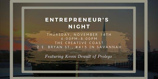 Entrepreneur's Night - Kevin Dewalt of Prolego