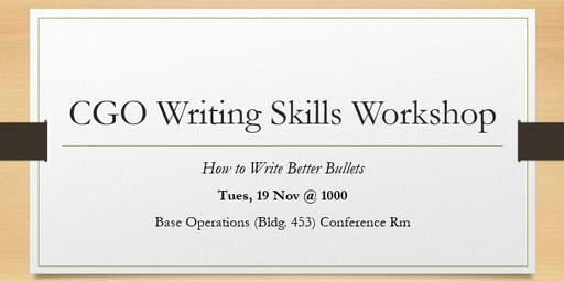 CGO Writing Skills Workshop