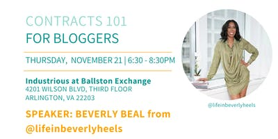 DC Bloggers November Meetup: Contracts 101 for Bloggers