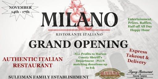 Milano Ristorante Grand Opening- NO TICKETS NEEDED