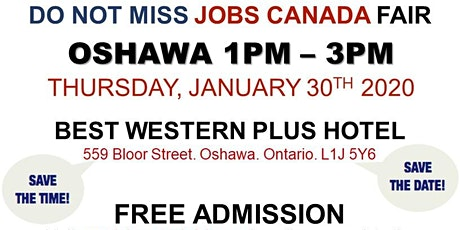 Oshawa Job Fair - January 30th, 2020 tickets