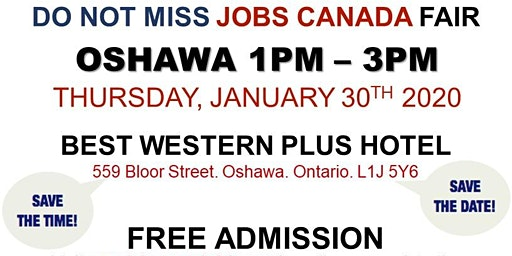 Oshawa Job Fair - January 30th, 2020