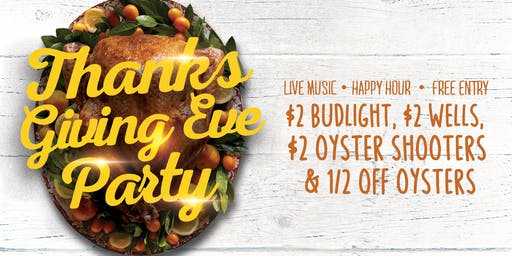Thanksgiving Eve Party at Snapper Jack's ***NO TICKET REQUIRED***