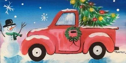 Paint a Christmas Tree Truck & Snowman