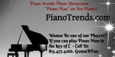 Piano Man on Ten Pianos