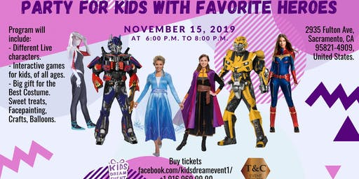 Party for Kids with Favorite Heroes