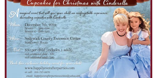 Cupcakes for Christmas with Cinderella