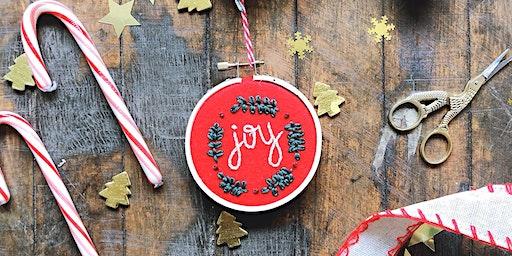 Embroidered Ornaments Workshop