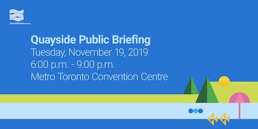 Quayside Public Briefing