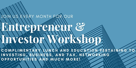 Entrepreneur and Investor Series - Cost Segregation Studies with David Degrand tickets