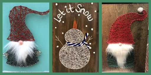 Snowman or Gnome String Art