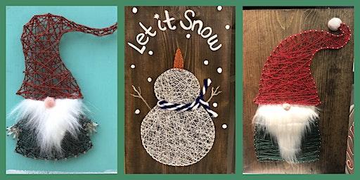 Snowman or Gnome String Art