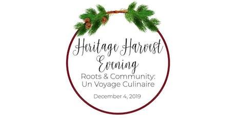 HERITAGE HARVEST EVENING - Roots & Community: Un V tickets