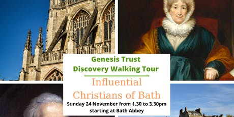 Genesis Trust Discovery Walking Tour - Influential Christians of Bath tickets