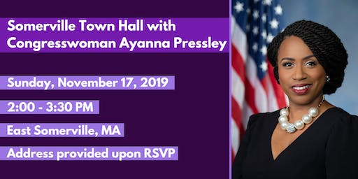 Congresswoman Ayanna Pressley Somerville Town Hall
