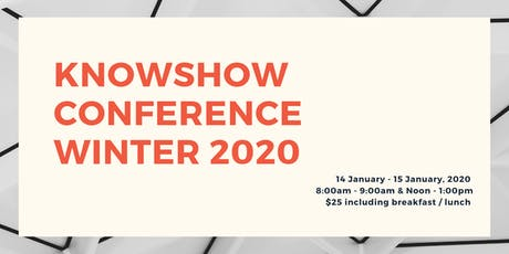 KNOWSHOW Winter Conference 2020 tickets