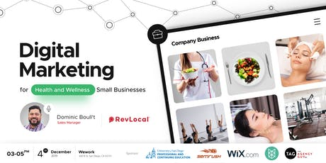 Digital Marketing for Health and Wellness Small Businesses tickets