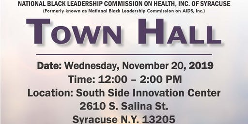 NBLCH Syracuse Town Hall