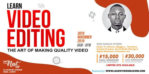 A one day intensive Video Making training targeted at Media enthusiasts...