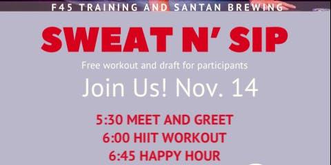 F45 Training and San Tan Brewing SWEAT N SIP