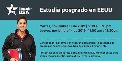 Noviembre: Estudia Posgrado (Maestría o Doctorado) en EEUU