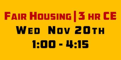Fair Housing | 3 hr CE | Natalie Vuoriaho