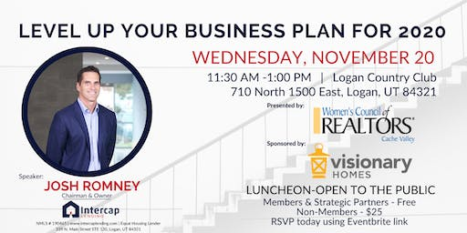 Level up your Business Plan for 2020 with Josh Romney