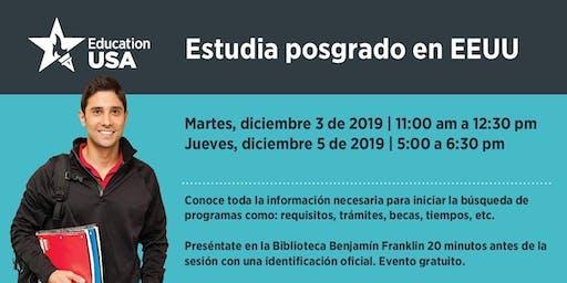 Diciembre: Estudia Posgrado (Maestría o Doctorado) en EEUU