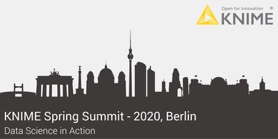 KNIME Spring Summit 2020 - Berlin