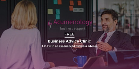 FREE 1-2-1 Business Advice Clinic tickets
