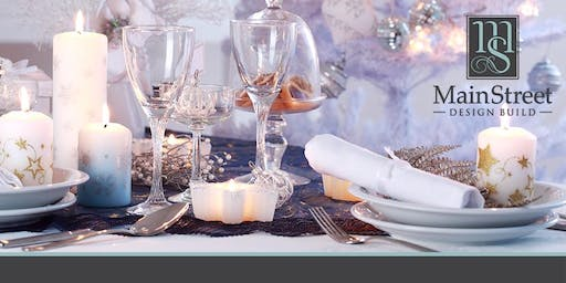Wine & Design Holiday Tabletop Demonstration by MainStreet Design Build