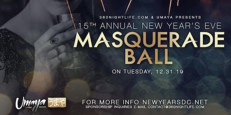 ANNUAL NEW YEAR'S EVE MASQUERADE BALL 2020 AT UMAYA tickets