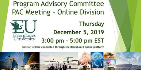 Program Advisory Committee (PAC) Meeting - Everglades University bilhetes