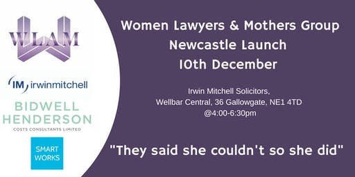 They said she couldn't so she did - WLAM - Newcastle Launch Event