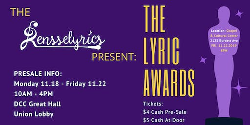 Rensselyrics Fall 2019 Invitational: The Lyric Awards