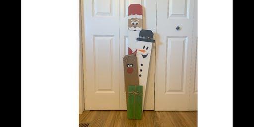 Christmas friends door post
