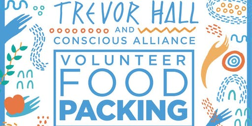 Trevor Hall and Conscious Alliance Volunteer Food Packing for the Community