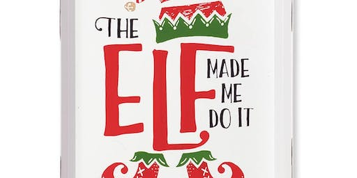 The Elf Made Me Do It! Chalk workshop