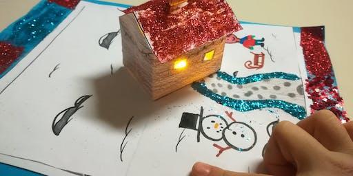 CoderDojo alla Principessa Clotilde - Paper Circuit Christmas Cards