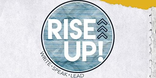 RISE UP! Gathering >>> write • speak • lead