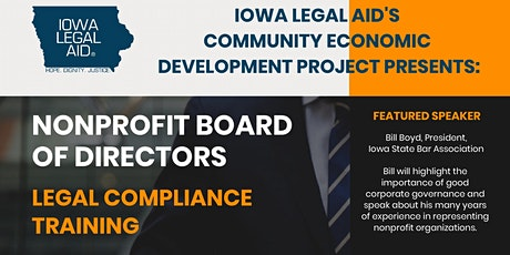 Nonprofit Board of Directors Legal Compliance Training tickets