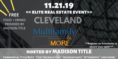 Cleveland Multifamily & More Meetup Event at Madison Title