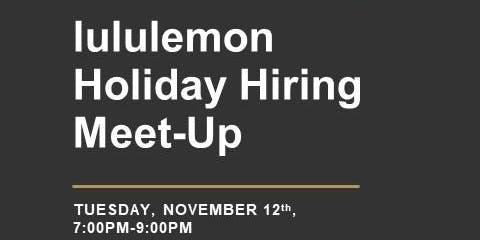 lululemon Holiday Hiring Meet-Up at Cyclebar