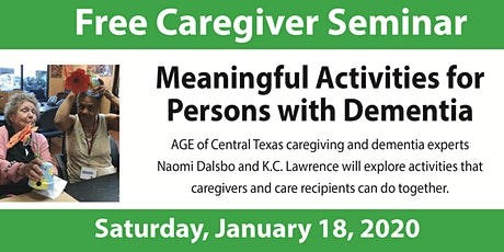 Meaningful Activities for Persons with Dementia tickets