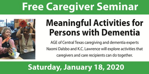 Meaningful Activities for Persons with Dementia