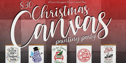 Christmas Canvas Painting Party